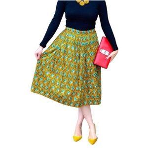 J.Crew Elephant Print skirt Size 14